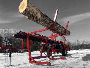 Firewood process Model 2000B log lift log lifted