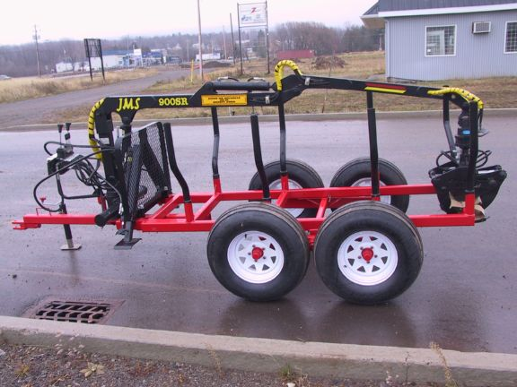 AM Machinery 900R log trailer with JMS 900SR grapple