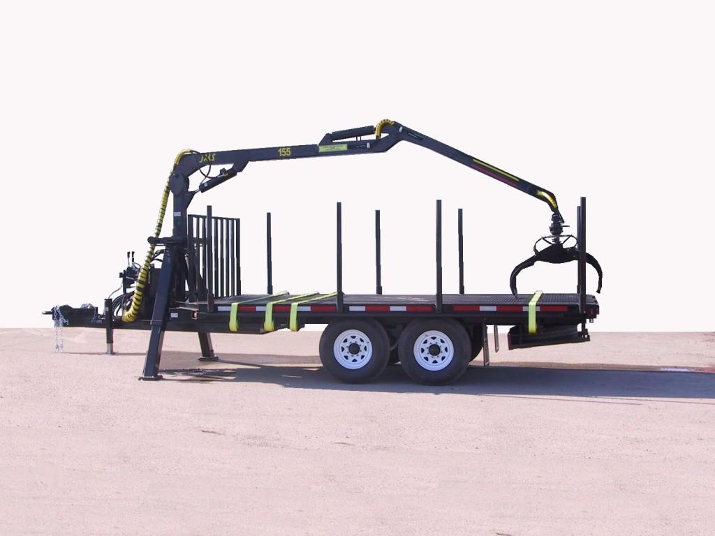 log loader timber trailer