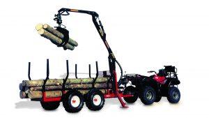 ATV trailer and grapple