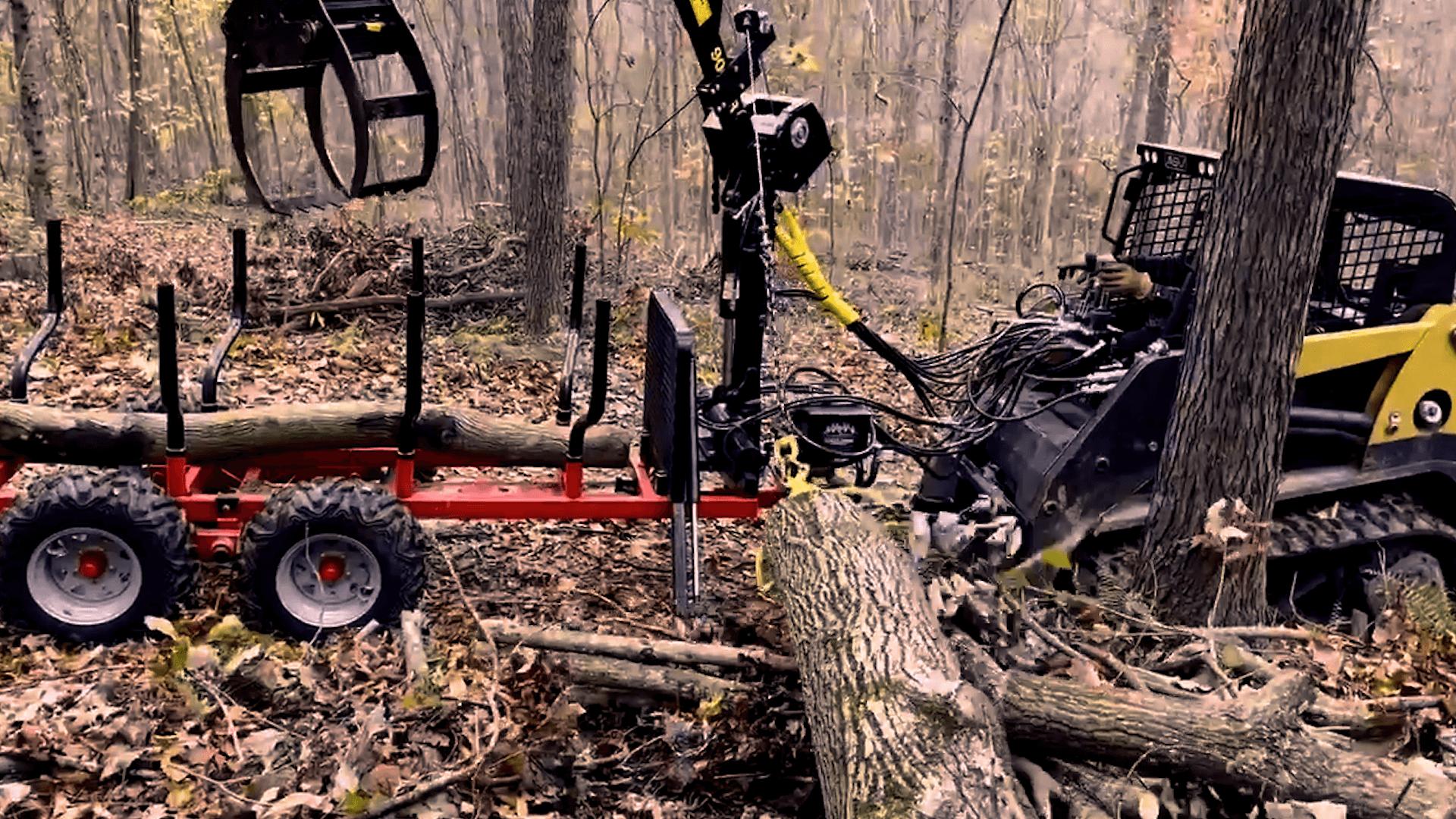 900R ATV logging forestry trailer 900SR loader loader with winch