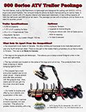 900 Series ATV Trailer Package Spec Sheet